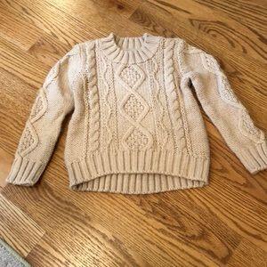 EUC Gymboree girls cable knit sweater